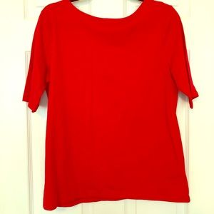 Chaps Red Tee With Criss-Cross Back